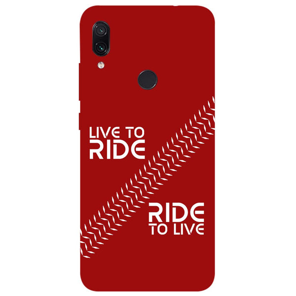Live Ride Redmi Note 7 Back Cover-Hamee India
