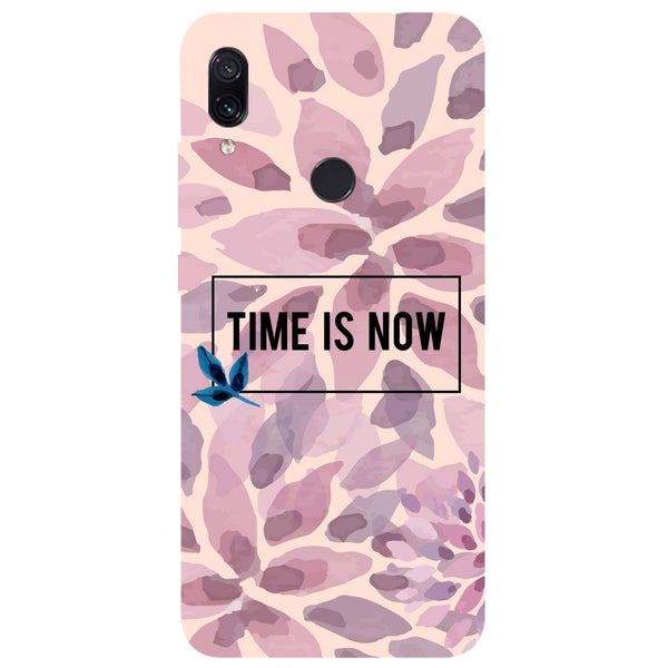 Time Is Now Redmi Note 7 Back Cover-Hamee India