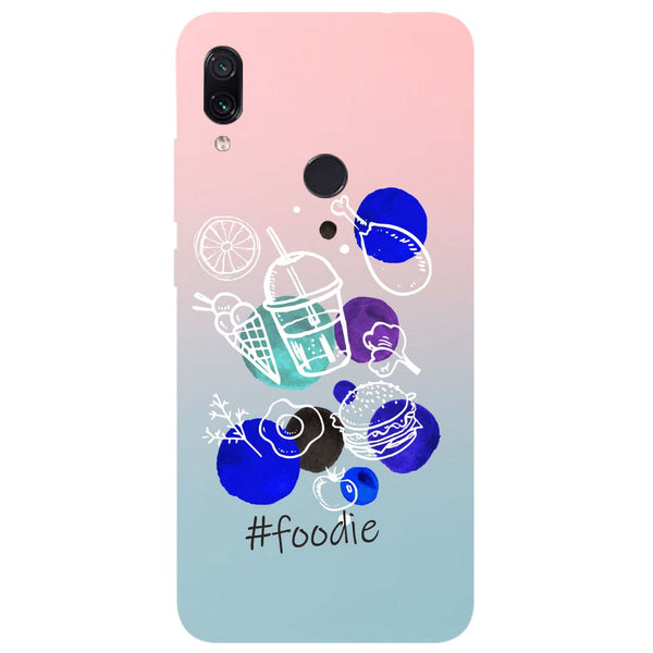 Foodie Redmi Note 7 Back Cover-Hamee India