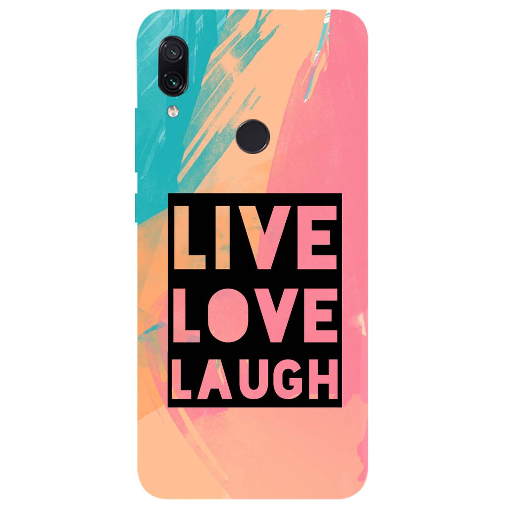Live Love Redmi Note 7 Back Cover-Hamee India