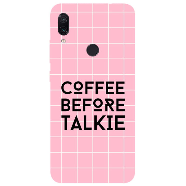 Coffee Talkie Redmi Note 7 Back Cover-Hamee India