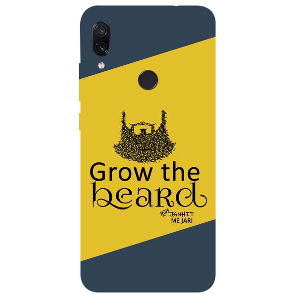 Grow Beard Redmi Note 7 Back Cover-Hamee India