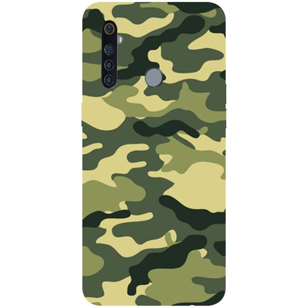 Green Camouflage RealMe 5 Pro Back Cover
