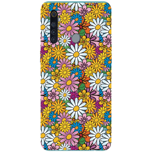 Colourful Flowers RealMe 5 Pro Back Cover