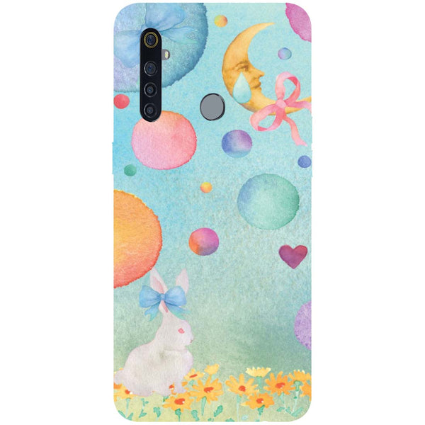 Moon Rabbit RealMe 5 Pro Back Cover