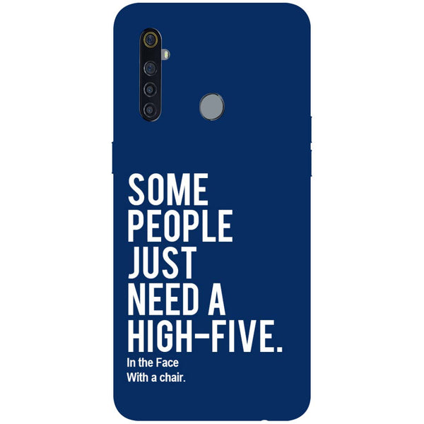 High Five RealMe 5 Pro Back Cover