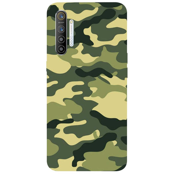 Green Camouflage RealMe XT Back Cover