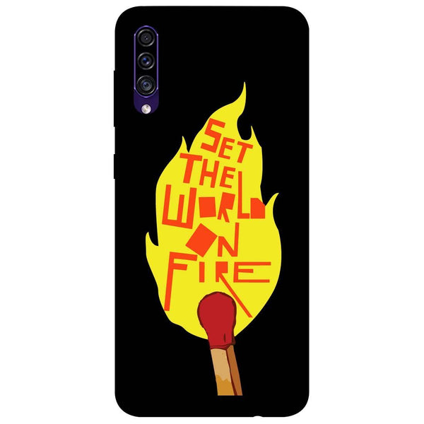 Fire Samsung Galaxy A50s Back Cover