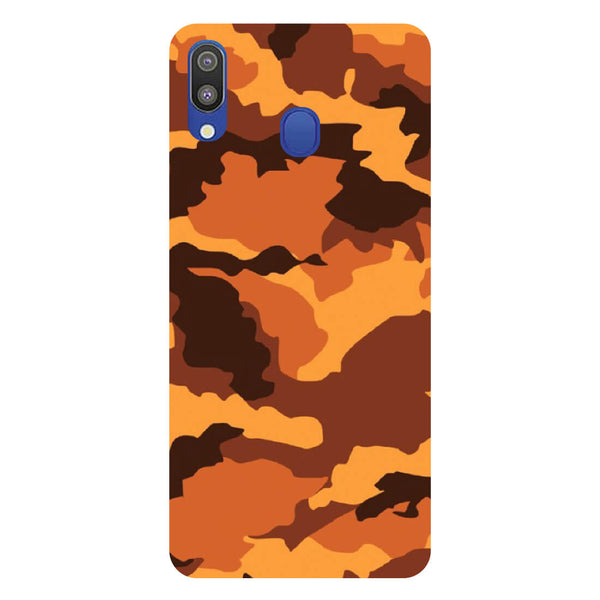 Orange Camouflage Samsung Galaxy M20 Back Cover-Hamee India
