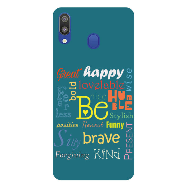 Be Samsung Galaxy M20 Back Cover-Hamee India