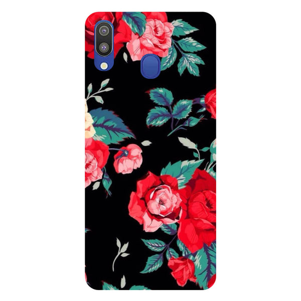 Black Bloom Samsung Galaxy M20 Back Cover-Hamee India