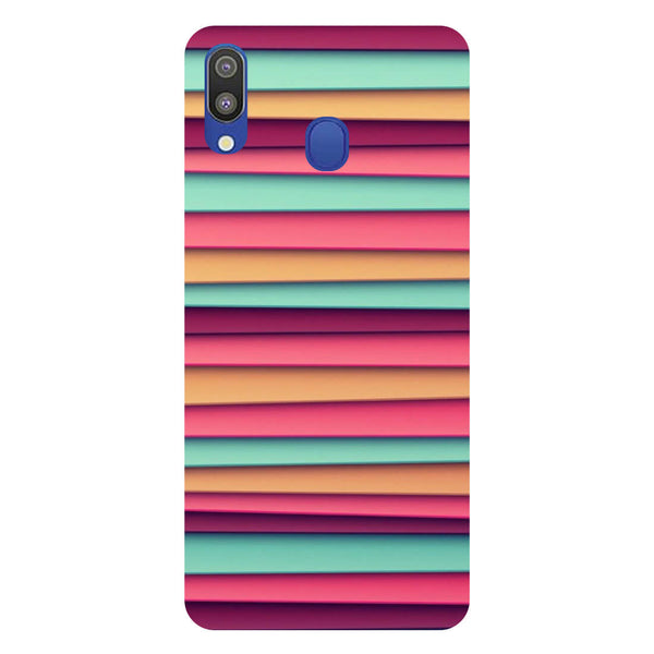Colourful Stripes Samsung Galaxy M20 Back Cover-Hamee India