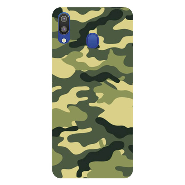 Green Camouflage Samsung Galaxy M20 Back Cover-Hamee India