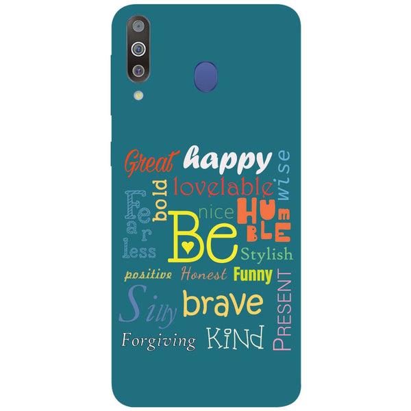 Be Samsung Galaxy M30 Back Cover-Hamee India