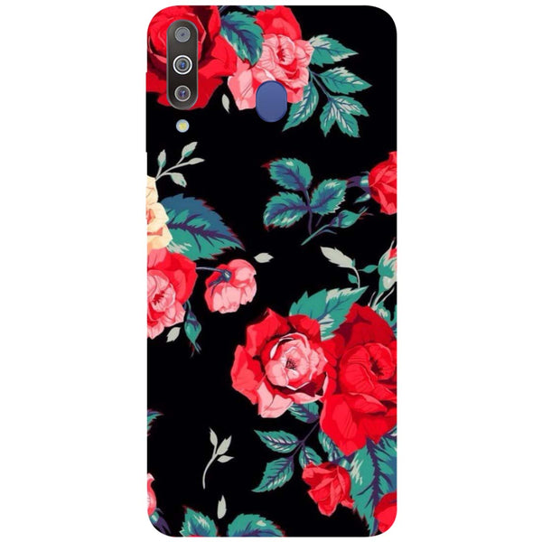 Black Bloom Samsung Galaxy M30 Back Cover-Hamee India
