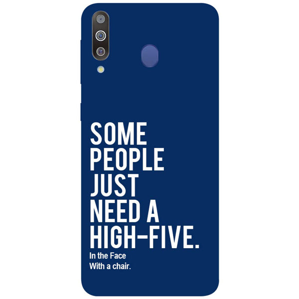 High Five Samsung Galaxy M30 Back Cover-Hamee India