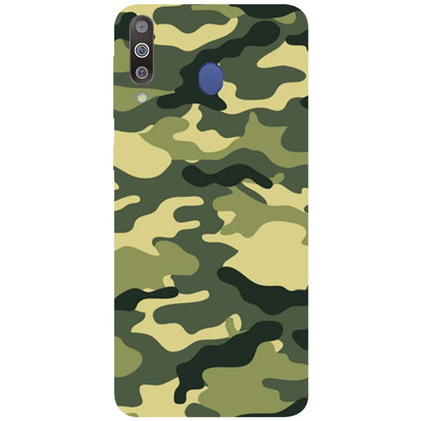 Green Camouflage Samsung Galaxy M30 Back Cover-Hamee India