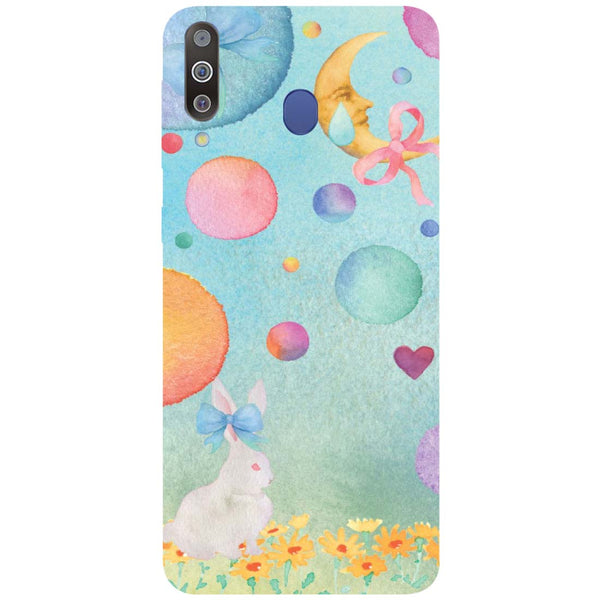Moon Rabbit Samsung Galaxy M30 Back Cover-Hamee India
