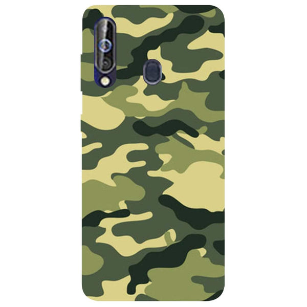 Green Camouflage Samsung Galaxy M40 Back Cover-Hamee India
