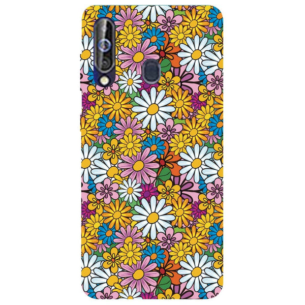 Colourful Flowers Samsung Galaxy M40 Back Cover-Hamee India