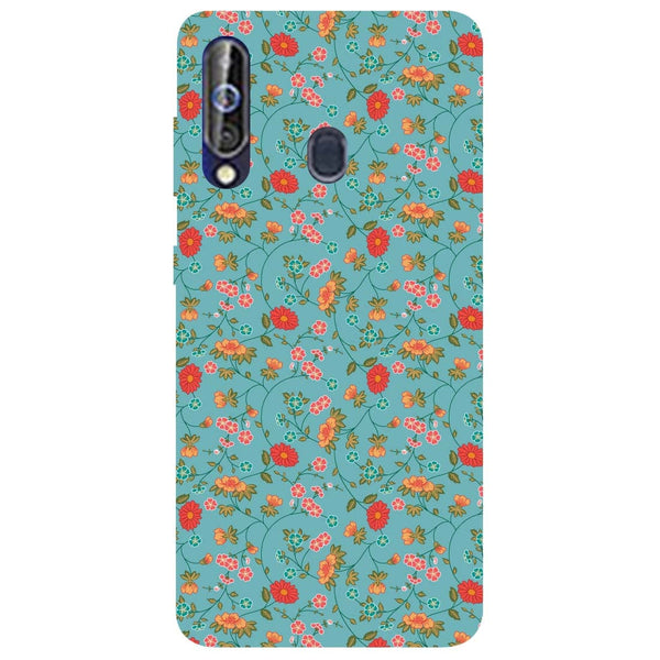 Floral Samsung Galaxy M40 Back Cover-Hamee India