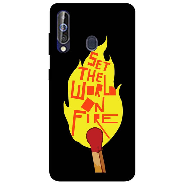 Fire Samsung Galaxy M40 Back Cover-Hamee India