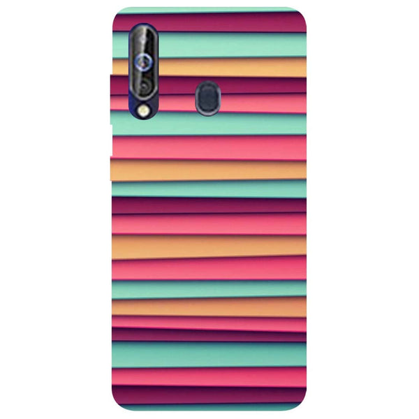 Colourful Stripes Samsung Galaxy M40 Back Cover-Hamee India