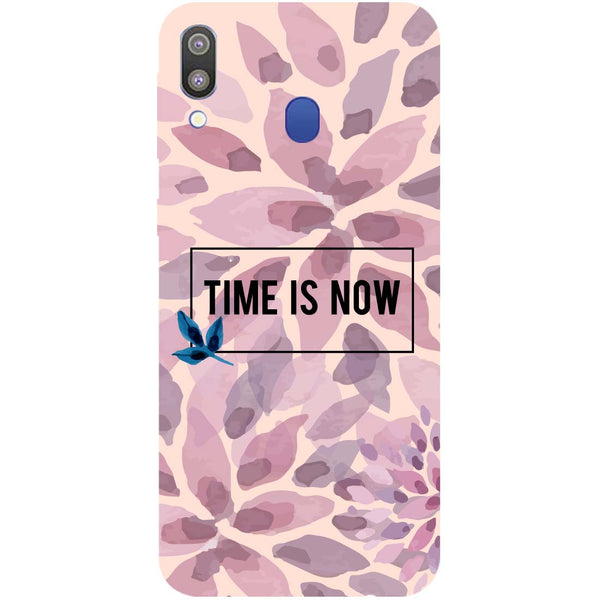 Time Is Now Samsung Galaxy M20 Back Cover-Hamee India