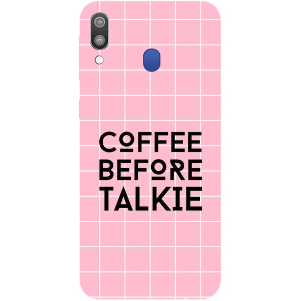 Coffee Talkie Samsung Galaxy M20 Back Cover-Hamee India