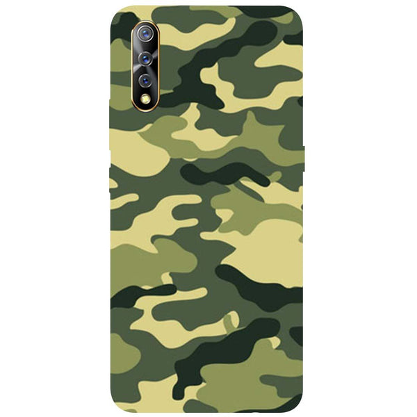Green Camouflage Vivo Z1x Back Cover
