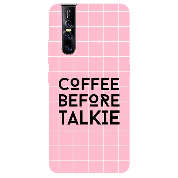 Coffee Talkie Vivo V15 Pro Back Cover-Hamee India