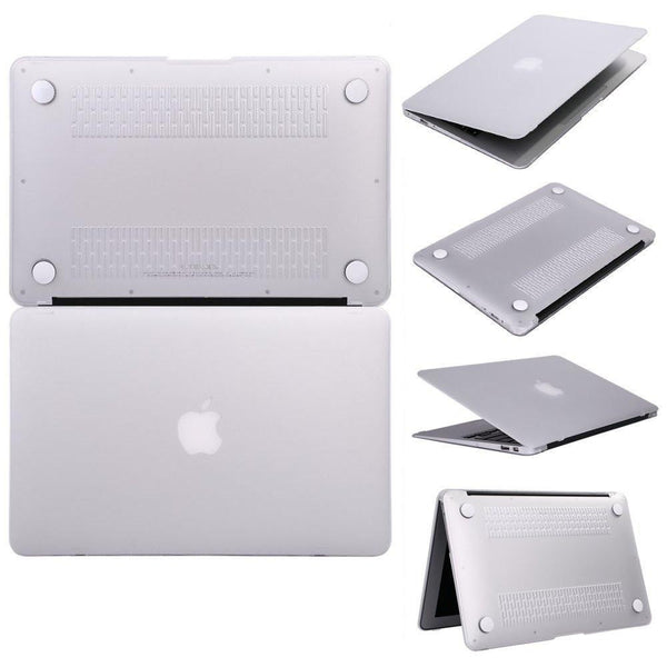 "Hamee Matte Finish Slim Fit Shell Case for Apple Macbook Air 13"" (White)-Hamee India"