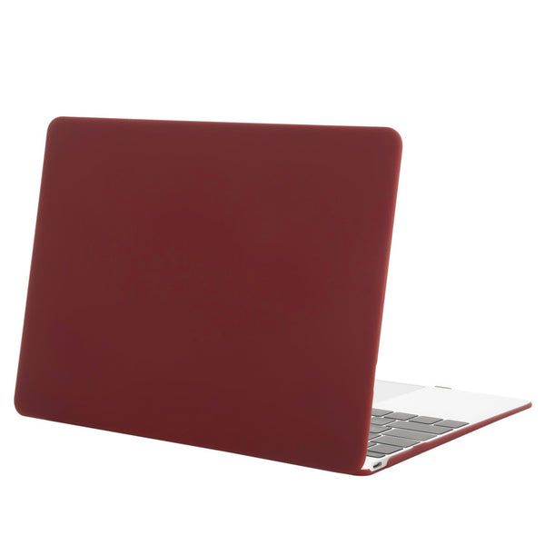 "Hamee Matte Finish Slim Fit Shell Case for Apple Macbook Air 13"" (Wine Red)-Hamee India"