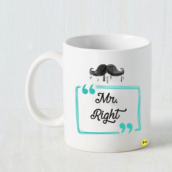 Hamee -Mr Right- White Coffee Mug-Hamee India