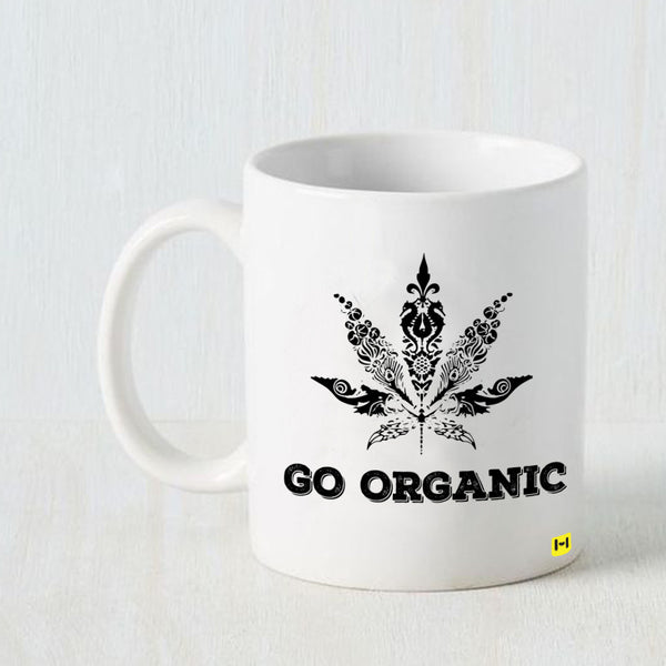 Go Organic - White Coffee Mug-Hamee India