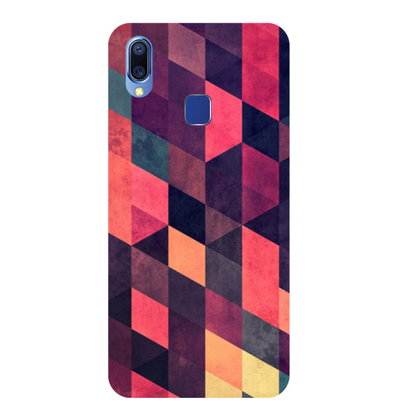 Pink Abstract Vivo Y93 Back Cover-Hamee India