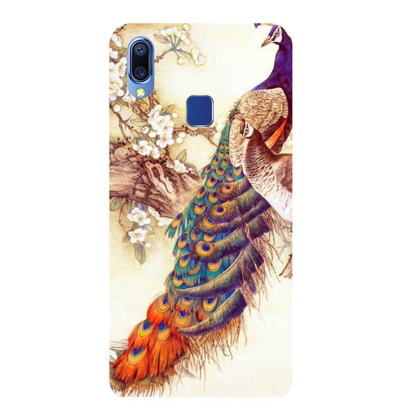 Yellow Peacock Vivo Y93 Back Cover-Hamee India