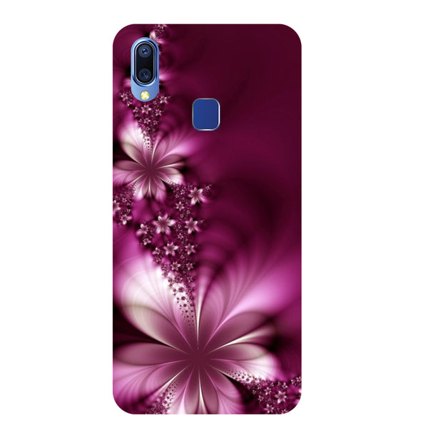 Purple Flowers Vivo Y95 Back Cover-Hamee India