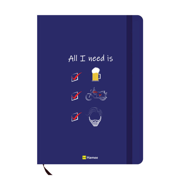 Need Blue A6 Pocket Diary-Hamee India