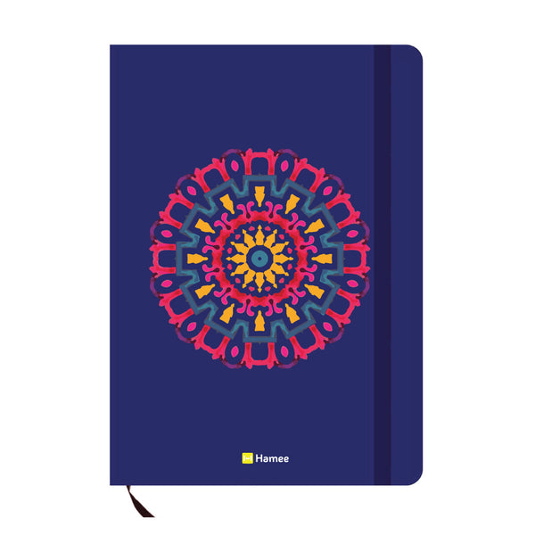 Mandala Blue A6 Pocket Diary-Hamee India