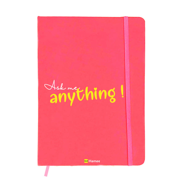 Anything Pink A6 Pocket Diary-Hamee India