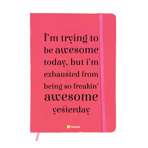 Awesome Pink A6 Pocket Diary-Hamee India