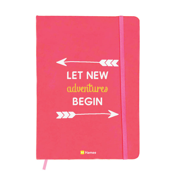 Adventures Pink A6 Pocket Diary-Hamee India