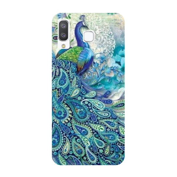 Blue Peacock Samsung Galaxy A8 Star Back Cover-Hamee India