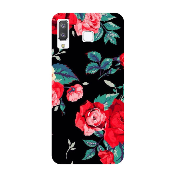 Black Bloom Samsung Galaxy A8 Star Back Cover-Hamee India