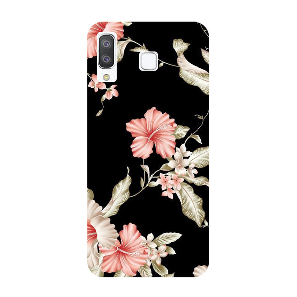 Black Floral Samsung Galaxy A8 Star Back Cover-Hamee India
