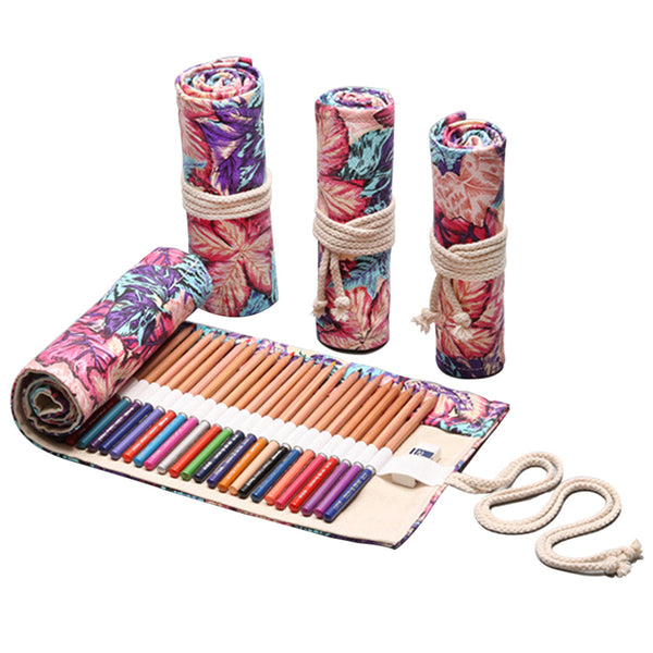 Autumn Canvas Pencil Wrap Case-Hamee India