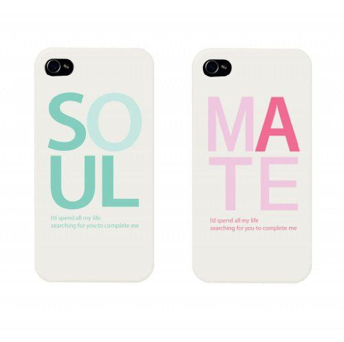 "Hamee Back Cover for iPhone 5 / 5S / SE / 5SE "" Soul Mates Special Pack of Two Combo 16 "" - Hamee India"