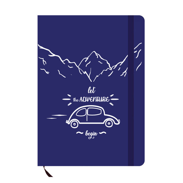 Let The Adventure Begin Blue A6 Pocket Diary-Hamee India