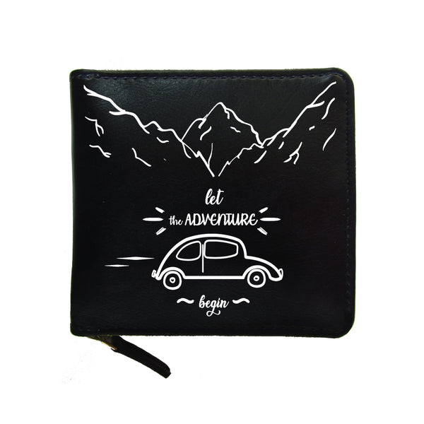 Let The Adventure Begin Unisex Zip Wallet-Hamee India